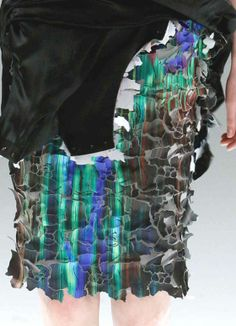 PRINTS, PATTERNS AND SURFACE EFFECTS FROM PARIS FASHION WEEK /  Details from womenswear collections fall/winter 2013/14.  Chalayan
