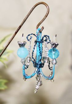 Fish Hook Chandelier for your Fairy Garden #miniaturefairygardens