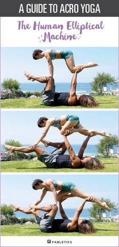 """Start """"flying"""" with Acro-yoga! Try these challenging yoga poses with your partner. 