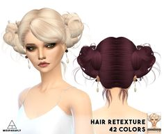 Miss Paraply: Newsea`s Love And Kiwi hairstyle retextured  - Sims 4 Hairs - http://sims4hairs.com/miss-paraply-newseas-love-and-kiwi-hairstyle-retextured/