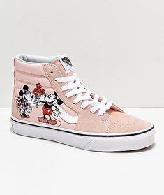 2d2c87c528 Disney by Vans Sk8-HI Mickey   Minnie Pink Skate Shoes