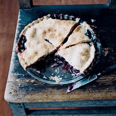 Mario Batali Mom's Blackberry Pie Recipe - In honor of Mother's Day, top chefs Jean-Georges Vongerichten, Mario Batali, April Bloomfield, David Chang, and Georges Mendes shared their favorite dish that they learned from mom, along with how to make it! | StyleCaster.com
