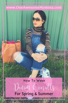 Are you wondering how to pull off denim overalls this spring? As long as you pair them with the right top, you won't go wrong with denim overalls women. Click on the image to learn more about multiple ways to wear denim overalls that's perfect for spring fashion, spring outfits, summer outfits, and summer fashion. Outfit ideas, style fashion, and style inspiration.
