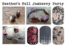 Jamberry Party Graphic by humblebeads on Polyvore featuring beauty