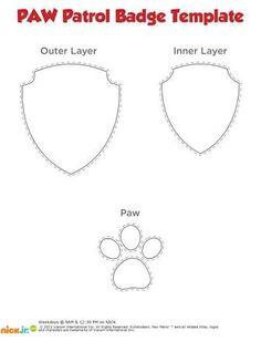 paw patrol badge templates - Google Search More