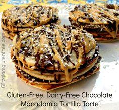Gluten-Free Chocolate Macadamia Tortilla Torte