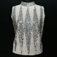 vintage silver top Silver Tops, Vintage Silver, Sequin Skirt, Sequins, Type, My Style, Skirts, Fashion, Moda