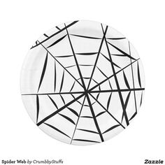 Spider Web Paper Plate