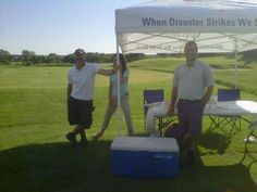Our hole at the King Chamber Golf Tournament was a ton of fun! We ran a contest for who had the longest drive for hitting a giant marshmallow! Some very creative approaches were seen.I mean FORE! Giant Marshmallows, We Run, Fundraising, Fun Stuff, Golf, King, Running, Creative, Inspiration