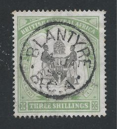 NYASALAND 1897-1900 3s BLACK & SEA-GREEN FU SG 49 CAT £375 - http://stamps.goshoppins.com/commonwealth-british-colonial-stamps/nyasaland-1897-1900-3s-black-sea-green-fu-sg-49-cat-375/