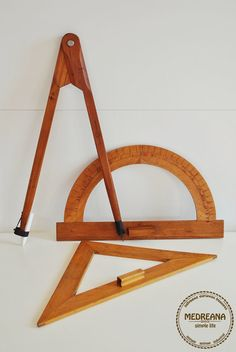 Teaching geometry set//School Drafting Tool by VintageMedreana, $85.00
