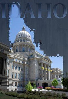IDAHO CAPITOL CUT OUT 2 COLOR