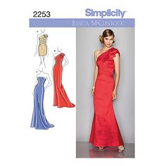 Buy Simplicity Special Occasion Dresses Sewing Pattern, 2253, D5 Online at johnlewis.com