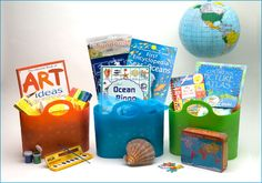 ''Brainy Baskets offers educational gift baskets of high quality educational games, toys, books and other materials selected by an experienced teacher and librarian.  These make the perfect educational gifts for kids!'  Nice !