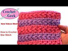 Teresa Richardson's How to crochet video Crochet Star Stitch Crochet Geek Crochet Star Stitch, Crochet Geek, Crochet Stars, Hand Crochet, Free Crochet, Knit Crochet, Crochet Stitches Patterns, Stitch Patterns, Knitting Patterns