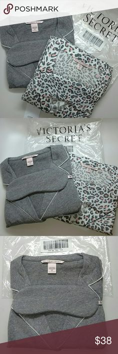 Perfect Sleep over pajama set Just in Brand new with tags Victoria secret perfect sleep over pajama set with sleep mask. Still in original packaging. Size S/P regular. Grey or leaopard print. Price is for one. No trades. Trusted seller,fast shipping. Victoria's Secret Intimates & Sleepwear Pajamas