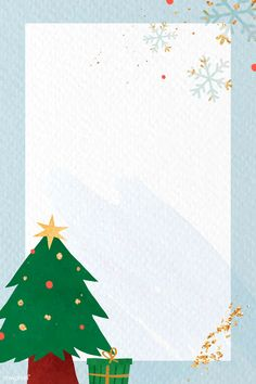 Christmas Tree Images, Christmas Frames, Blue Christmas, Christmas Cards, Graphic Wallpaper, Iphone Wallpaper, Note Doodles, Christmas Templates, Merry Christmas And Happy New Year
