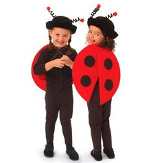 Ladybug costume for kids, carnival and Halloween - Disfraz de mariquita para niños, disfraces animales carnaval
