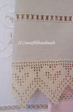 Filet Crochet, Crochet Trim, Easy Crochet, Crochet Lace, Crochet Edging Patterns, Granny Square Crochet Pattern, Crochet Borders, Crochet Curtains, Crochet Doilies
