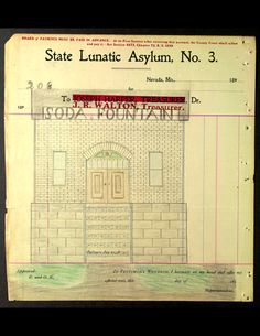 """""""Around the year 1910, a patient at State Lunatic Asylum No 3 (subsequently State Hospital No. 3) in Nevada, Missouri, who referred to himself as The Electric Pencil, executed 283 drawings in ink, pencil, crayon and colored pencil,"""""""