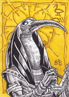 Thoth Sketch Card - Nestor Celario Jr. by Pernastudios.deviantart.com on @deviantART