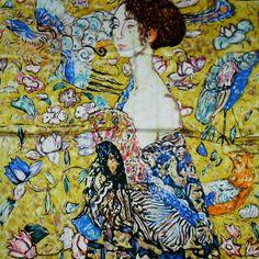 SEW ELEGANT Van Gogh Monet Klimt Peinture Impressionnisme Beaux Arts Foulard En Soie