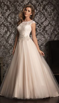 Beautiful blush wedding dress For more wedding and fashion inspiration visit www.finditforweddings.com Bridal gown