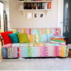 Patchwork slipcover by Emma Jansen - LOVE THIS!!!