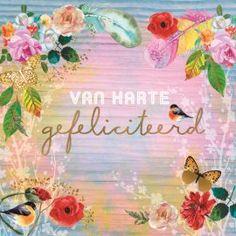 verjaardagskaart vrouw - gipsy-kaart-verjaardag-van-harte-gefeliciteerd Birthday Wishes, Birthday Cards, Happy Birthday, Birthday Parties, Lotte World, Birthday Balloons, Birthdays, Greeting Cards, Painting