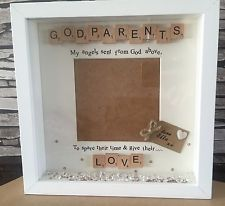 Personalised godmother scrabble photo frame gift- godfather ...