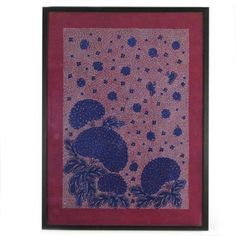 Magenta Hydrangea with Butterflies, Batik
