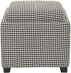 Harrison Single Tray Ottoman ~ Hounds tooth