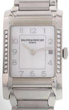 Baume et Mercier Hampton swissquartz motherofpearl womens Watch 65725 Certified Preowned *** Want to know more on the watch, click on the image.