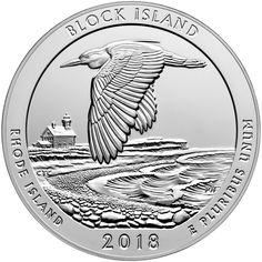 2018 S Block Island National Wildlife Refuge Quarter Roll San Fran Mint unopened