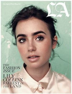 Flawless skin. Lily Collins