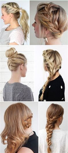 Below are fifteen super hairstyles, with their easy step by step tutorials, to help you get a fabulous salon look hairstyle at home.