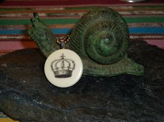 Vintage Backgammon Royal Crown Necklace by ThePaperSnail on Etsy, $8.00