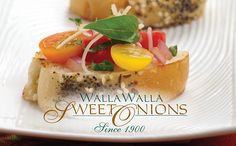 Walla Walla Sweet Onion and Cherry Tomato Bruschetta