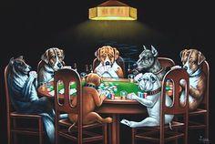 dogs playing poker | Dogs Playing Poker & Pool