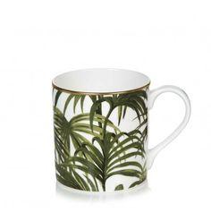 Palmeral Mug White / Green http://www.houseofhackney.com/new-in/home/palmeral-mug-white-green.html