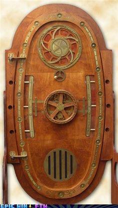 steampunk door by marleis