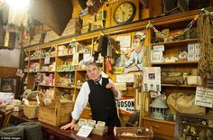 Visitors can take a peek inside the old Co-op hardware store at the museum and see how people used to shop