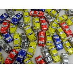 BY COLOR :: MULTICOLOR/ASST :: FOILED CHOCOLATE SPORTS CARS-PER PIECE -