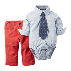 jcp | Carter's® Boy 3-pc. Bodysuit and Pant Set - Baby Boys newborn-24m
