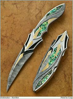 Knifemaker Ronald Best from 2013 Blade Show - Art, Classics, and Community - CKCA Forums weapon Pretty Knives, Cool Knives, Swords And Daggers, Knives And Swords, Armas Ninja, Fantasy Weapons, Custom Knives, Folding Knives, Guns