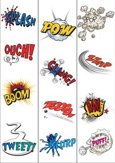 Onomatopoeia border Teacher's Pet - FREE Classroom Display Resources for Early Years (EYFS), Key Stage 1 (KS1) and Key Stage 2 (KS2)