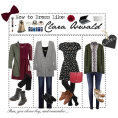 So clearly I'm obsessed at the moment - How to Dress Like: Clara Oswald She is my tv fashion idol. Love her style and look! Fandom Fashion, Geek Fashion, Womens Fashion, Fashion Idol, Doctor Who Outfits, Fandom Outfits, Clara Oswald Clothes, Clara Oswald Outfits, Clara Oswald Fashion