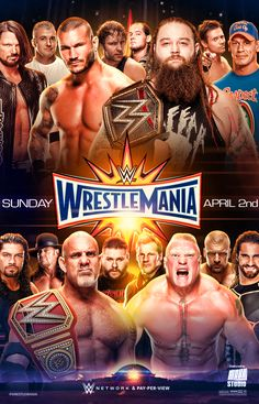 WWE Wrestlemania 33 Poster by on DeviantArt Wrestling Posters, Wrestling Wwe, Wwe Wrestlemania 34, Wwe Events, Wwe Ppv, Shane Mcmahon, Catch, Wwe Pay Per View, Wwe World