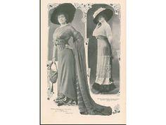 A moda feminina no início do século XX Ilustração Portuguesa, nº 253, 26 de Dezembro de 1910 .