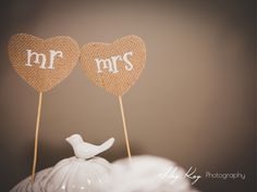 mr & mrs cake toppers